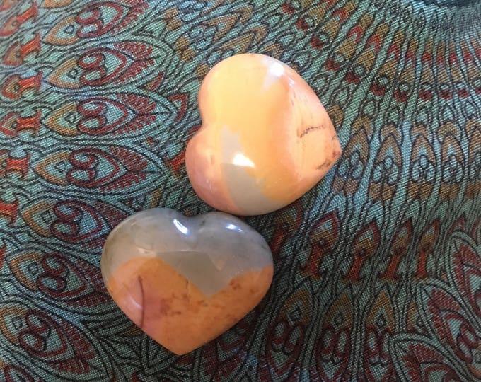 Crystal - Heart - Polychrome Jasper aka Desert Jasper