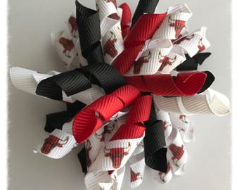 Chicago Bulls inspired Hairbow...NBA inspired Hairbow...Korker Hairbow