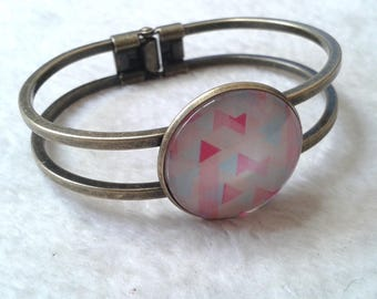 Bangle Bracelet bronze pastel Triangles