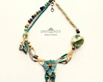 Beaded Freeform Necklace
