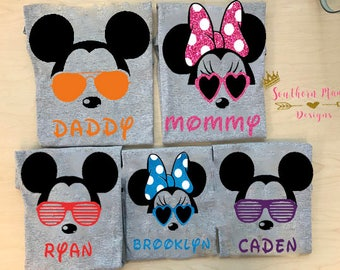 Disney Family Shirts-Disney Matching Shirts-Disney Family Matching Shirts-Mickey Shirts-Minnie Shirts-Cute Family Disney Shirts