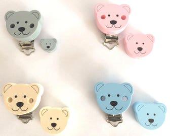 Pacifier clip and bead Teddy Bear