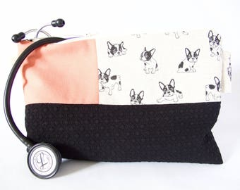 Stethoscope Pouch. FRENCHIE RT Gift. Physician Assistant Gift.Paramedic Gift.Nurse Gift.Vet Tech Gift.Vet Grad Gift.Medical Grad Gift.RN Bag