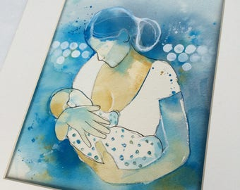 Breastfeeding Art Print; Lactation Room Art; Office Decor for Doula, Midwife or Lactation Consultant; Baby Shower Gift; Nursery Decoration