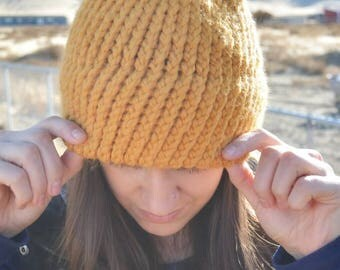 Adult double brim beanie **READY TO SHIP