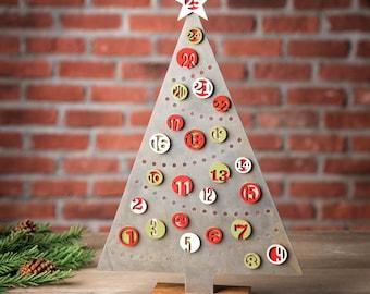 Christmas Tree Advent Calendar Countdown Reusable Magnetic Tabletop