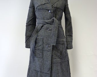 Fashion grey wool coat, S size. Only one sample.