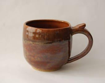 Pottery Mug, Hand made Pottery Mug, Ceramic Mug, Wheel Thrown Mug