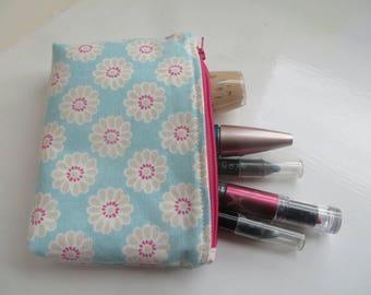 Make Up Purse, Pouch, Bag,Zipper pouch, Flowers