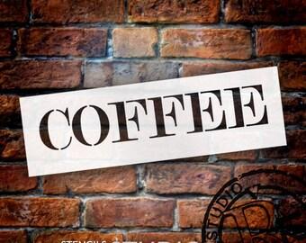 Coffee - Skinny Serif - Word Stencil - Select Size - STCL2062 - by StudioR12