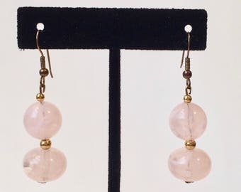 Charming Rose Quartz Earrings