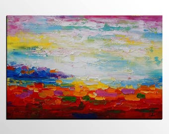 Abstract Art, Canvas Painting, Large Abstract Painting, Original Painting, Abstract Landscape Painting, Canvas Painting, Canvas Wall Art