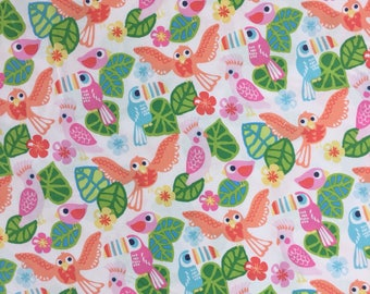 Blend Fabrics Tropical Fabrics See You Later Parrot Fabric Pink Fabric Fabric By The Metre