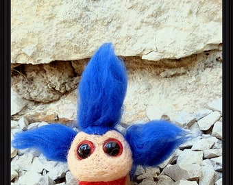 Labyrinth Worm, Needle Felted Gift