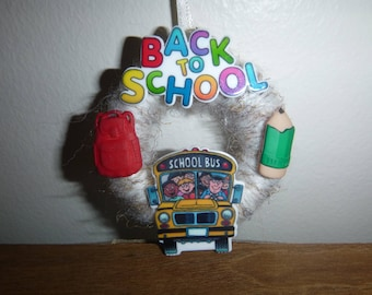 Back to School Ornament / School Bus Ornament / Bus Driver Ornament / Christmas Ornament