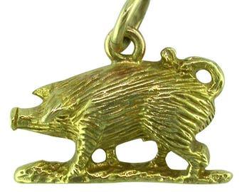 Gold Pig Charm