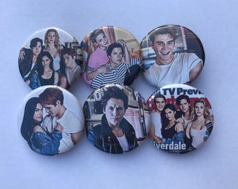"1.25"" Riverdale Pinback Pack Pins Buttons Badges Entertainment Weekly Cole Sprouse KJ Apa"