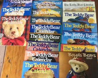 Teddy Bear Calendars, Vintage