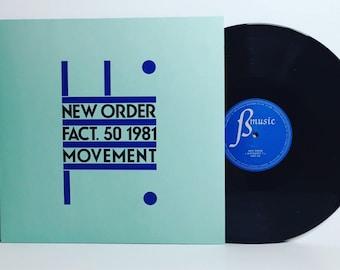 """New Order-Movement 12"""" vinyl record album LP 2016 Repress"""