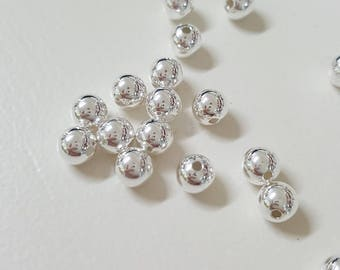 6mm Sterling Silver Seamless Round Beads - Select 10, 20 or 50