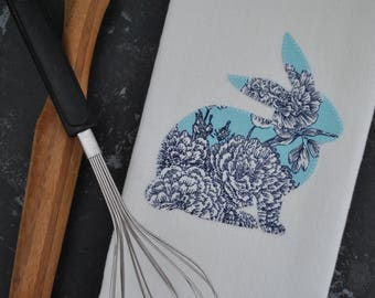 Bunny Tea Towel | Bunny Kitchen Towel | Easter Bunny Towel | Rabbit Kitchen Towel | Easter Kitchen Decor