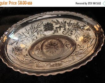 """SALE Anchor Hocking Sandwich Glass 8.5"""" Oval Serving Bowl"""