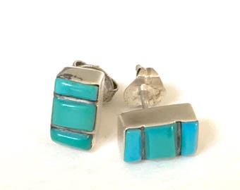 Vintage sterling silver Turquoise post earrings