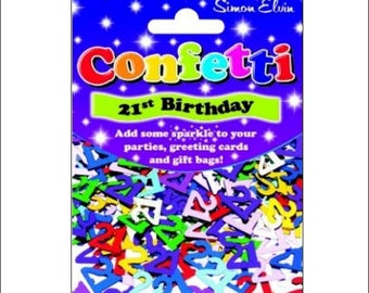 21st Birthday foil table confetti, birthday, party supplies, 21st decorations, table decorations, UK seller, age confetti, 21st birthday