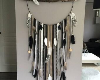 articles similaires attrape r ves dreamcatcher geant en bois flott sur etsy. Black Bedroom Furniture Sets. Home Design Ideas
