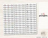 Fill Prescription Stickers - Planner Stickers - FS27