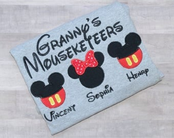 Granny's Mouseketeers shirt/ Granny Disney shirt