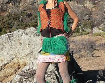 summer patchwork miniskirt