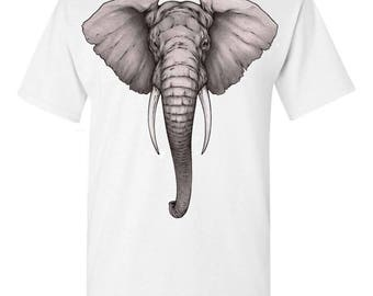 ELEPHANT TRIBAL T-Shirt Buddha Namaste Beautiful Save the Elephants Conservation