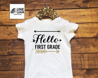 ENDS AT 12 AM Pick the grade, girls back to school shirts, back to school shirt, girls kindergarten shirt, girls 1st grade shirt, girls 2nd