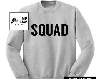 6HR SALE squad shirt, squad sweatshirt,womens shirt, womens top, womens graphic tee, womens sweatshirt, womens tshirt, graphic tshirt, chris