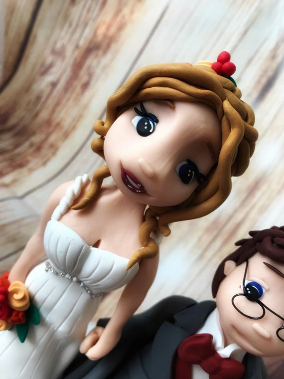 Fully personalised Wedding Cake Topper - wheelchair bride and groom , highly detailed and fully sculpted Keepsake - Bespoke Premium Service