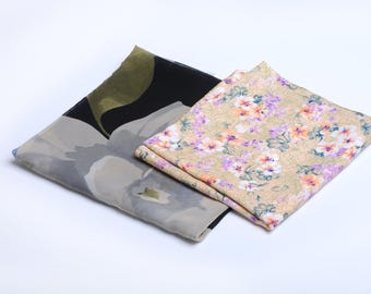 Kerchief, floral shawls, scarfs, floral bandana scarf, floral scarves for women, neck scarf her, boho foulard, summer scarf
