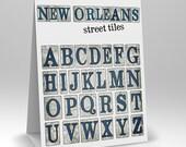New Orleans Street Tiles Digital Alphabet Scrapbook Elements
