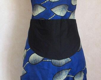 Blue wax, glamorous lace apron