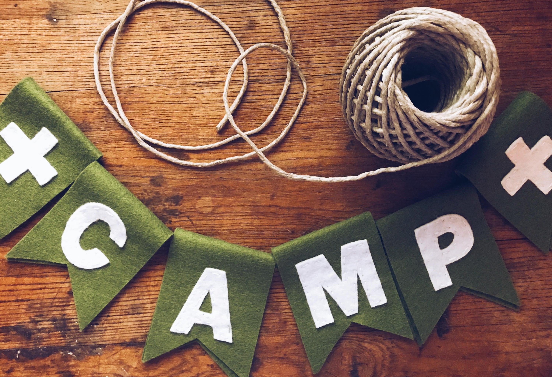 CAMP Felt Garland Banners