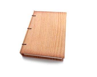 Pine Journal Wooden Notebook Wood Wedding Guestbook Wood Journal Engraved Notebook Wooden Sketchbook Custom Journal Travel Notebook