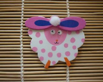 Sheep foam decor Easter white tassel sold separately.