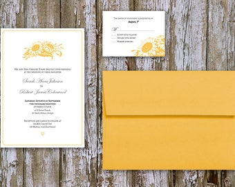 Sunflower classic Wedding invitation