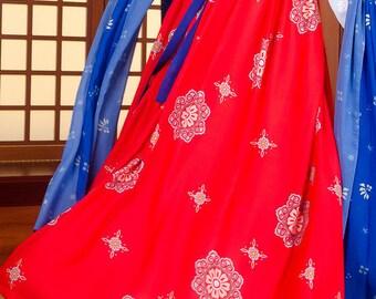fabric apparel chiffon Peony red linen 3 m