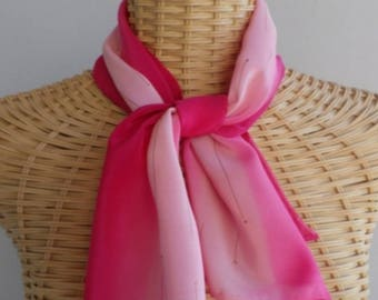 Felted scarf in silk Fuchsia and peach @evysoie