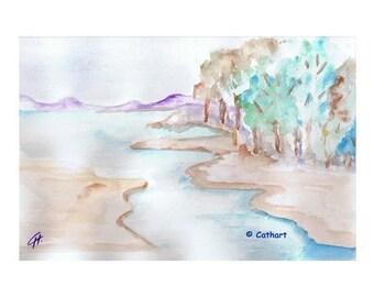 "Watercolor ""sketched landscape"""