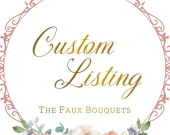 Custom Listing for Elise - IN PROGRESS