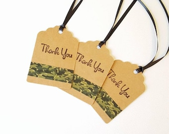 CAMOUFLAGE THANK YOU Tags, Camo Thank You Tags, Camouflage Tags, Camo Tags, Camo Party, Camo Wedding, Camouflage Favor Tags, Camo Birthday