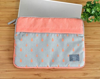 "13"",15"" peach laptop sleeve, macbook sleeve, macbook pro 13"" sleeve case, apple12"" macbook sleeve case,macbook pro 15"" sleeve case"