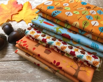 Fall 5 Piece 1/2 Yard Bundle, Autumn Fabric, Harvest Bundle